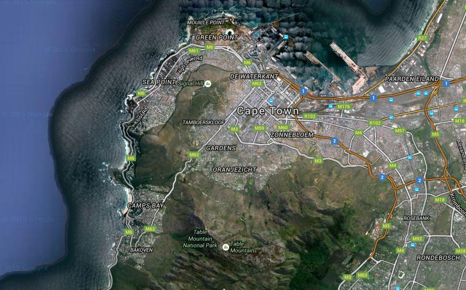 Cape Town haritası